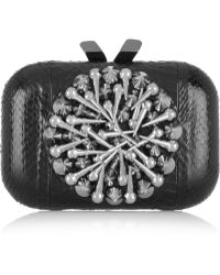 KOTUR Margo Studded Snake Box Clutch - Lyst