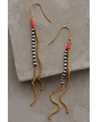 Shashi Dotted Plains Drop Earrings - Lyst