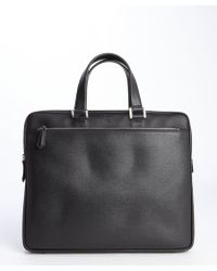 Fendi Black Leather Front Pocket Top Handle Briefcase - Lyst