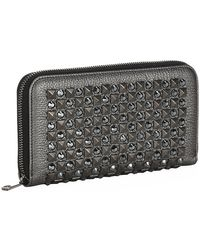 Dolce & Gabbana Studded Zip-Around Wallet - Lyst