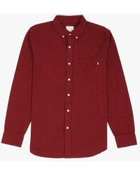Obey Norton Woven Ls Shirt red - Lyst
