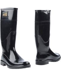 D&G Black Boots - Lyst