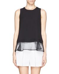 Elizabeth And James Tierney Silk Organza Layer Top - Lyst