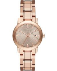 Burberry City Rose Goldtone Stainless Steel Bracelet Watch - Lyst