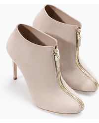 Zara High Heel Ankle Boot with Zip - Lyst
