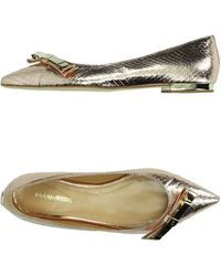 DSquared² Ballet Flats gold - Lyst