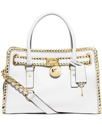 MICHAEL Michael Kors Leather East West Satchel - Lyst