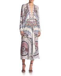 Etro Dream Catcher Silk Handkerchief Dress - Lyst