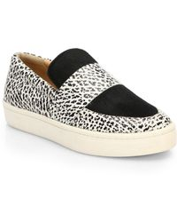 Loeffler Randall Irini Leather Calf Hair Sneakers - Lyst