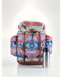 Ralph Lauren Patterned Nylon Backpack - Lyst