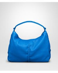 Bottega Veneta Signal Blue Washed Cervo Bag - Lyst