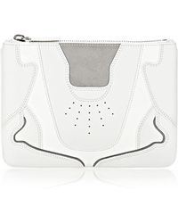 Alexander Wang Sneaker Pouch In Optic White And Light Concrete With Rhodium - Lyst