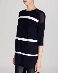Karen Millen Sweater  Stripe Knit Contrast Back - Lyst
