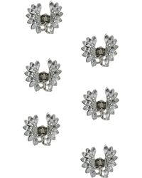 Topshop Crystal Flower Hair Clips - Lyst