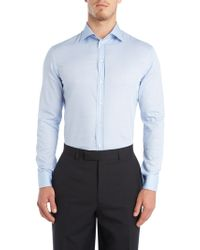 Armani Patterned Regular Fit Shirt - Lyst