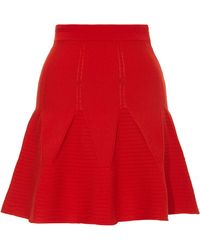 Antonio Berardi Knit Woolblend Flared Mini Skirt - Lyst