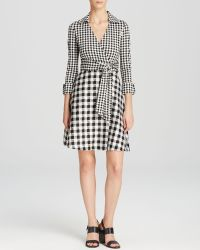 Diane von Furstenberg Wrap Dress - Amelianna Gingham - Lyst