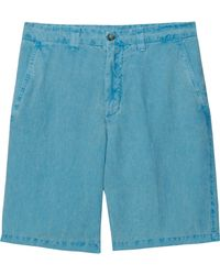 120 Percent Linen Classic Flat Front Shorts - Lyst