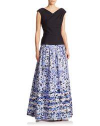 Kay Unger Floral Ball Skirt blue - Lyst