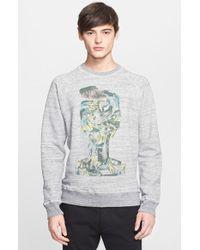 Marc Jacobs 'Swirly Baste' Graphic Sweatshirt gray - Lyst
