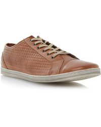 Dune Trickster Lace Up Side Weave Trainers - Lyst