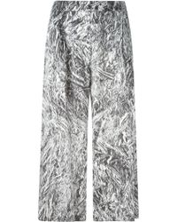 McQ by Alexander McQueen Silver Foil Print Culottes - Lyst