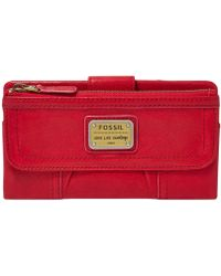 Fossil Emory Leather Clutch Wallet - Lyst
