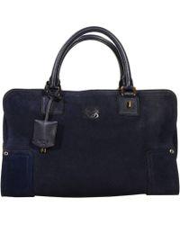 Loewe Handbag Amazona Suede - Lyst