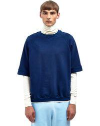 Aiezen - Cropped Crew Neck Sweatshirt - Lyst