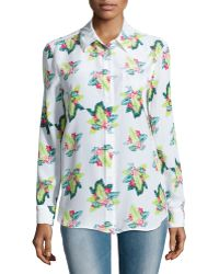 Equipment Reese Floral-Print Blouse - Lyst