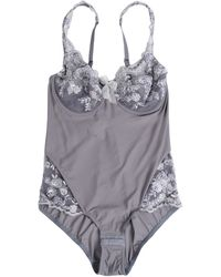 Christies Bodysuit gray - Lyst