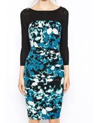 Coast Bliss Printed Jersey Dress - Lyst
