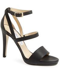 Jimmy Choo Women'S Leather Ankle Strap Sandal - Lyst