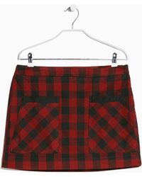 Mango Check Miniskirt - Lyst