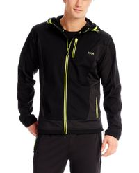 Boss Green Sorajos | Stretch Hooded Jacket - Lyst