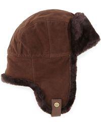 Ugg Shearling Trapper Hat - Lyst