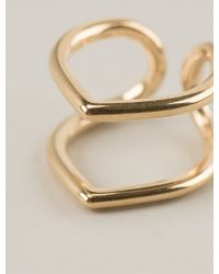 Coops London - Small Pointed Double Hoop Squeeze On Earrings - Lyst