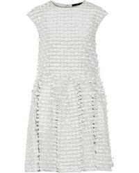 Tibi Oversized Appliquéd Crepe Dress - Lyst