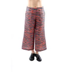 House Of Holland Pantalone Rosso/Nero - Lyst