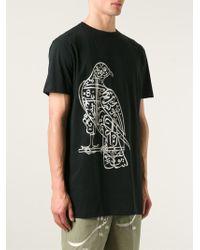 Thamanyah - Falcon-Print Cotton T-Shirt - Lyst