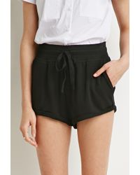 Forever 21 French Terry Drawstring Shorts - Lyst