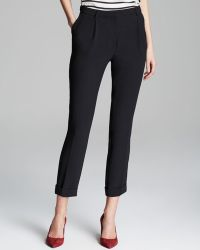 Adrianna Papell - Pleat Front Cuffed Trousers - Lyst