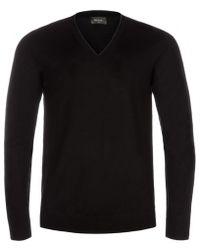 Paul Smith Black Merino Wool V-Neck Sweater - Lyst