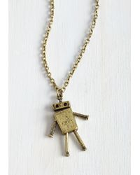 Zad Fashion Inc. - Lost In Bot Necklace - Lyst