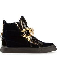 Giuseppe Zanotti Chain Strap Hi Top Sneakers - Lyst