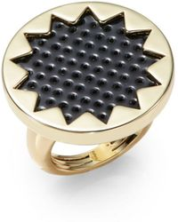 House Of Harlow Perforated Leather Sunburst Ring - Lyst