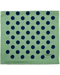 Burberry Prorsum Green Polka Dot Chashmere Blend Circle Scarf - Lyst