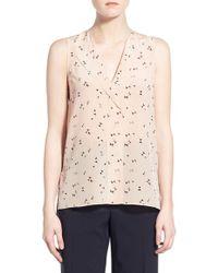 Trouvé | V-neck Sleeveless Silk Top | Lyst