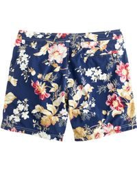 "J.Crew 6.5"" Tab Swim Short In Exploded Floral - Lyst"