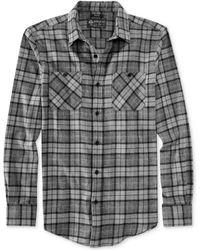 American Rag Cabin Plaid Flannel Shirt - Lyst